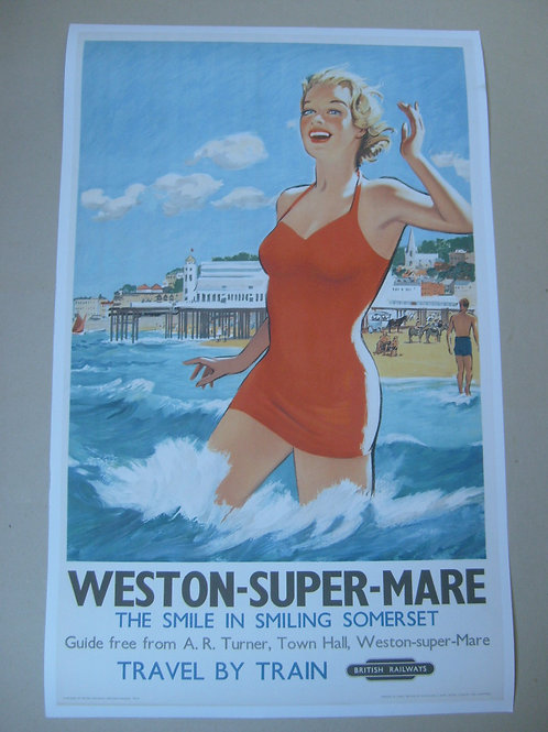 Weston-Super-Mare - BR advertising poster