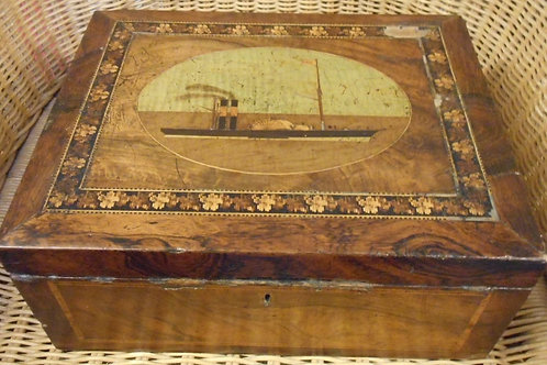 Paddle steamer marquetry work box
