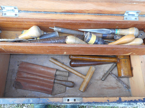 Sail makers box and tools