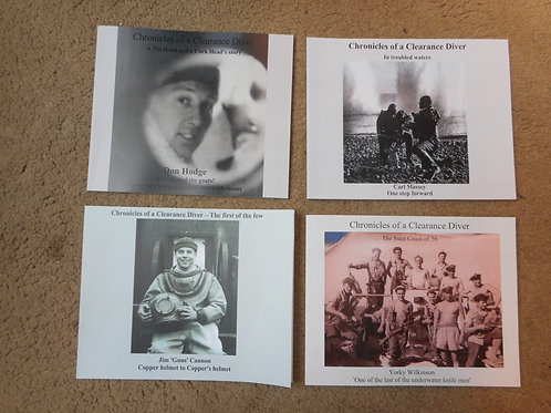 5 books on Clearance Diver history