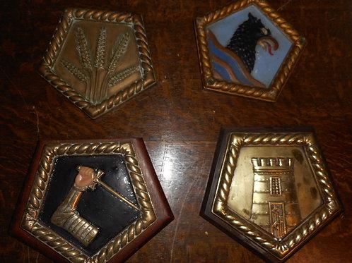 Four H.M.S Cruiser ships badges