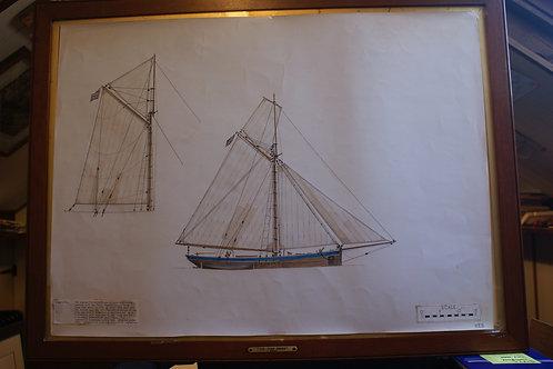 Original Trinity House scale drawing - 'Tarpaulin'