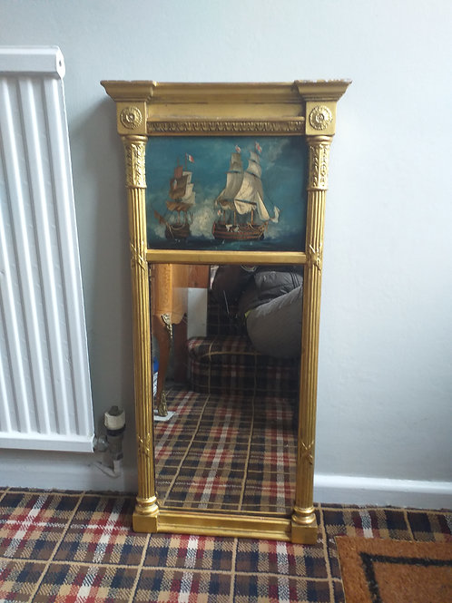 Regency mirror with HMS Victory