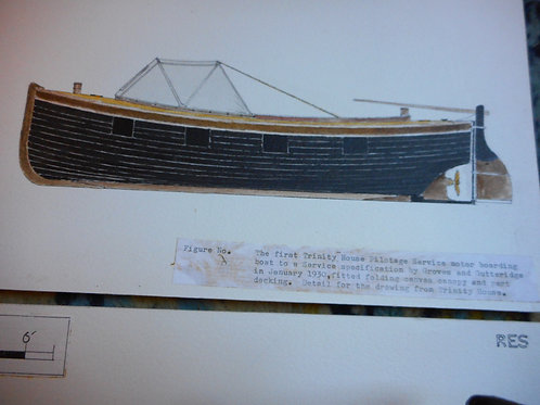 Trinity House scale drawing - Motor boat