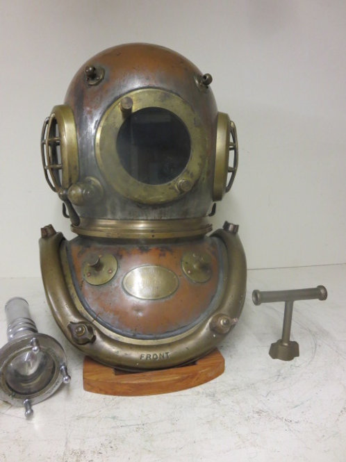 Early Siebe Gorman 6 bolt diving helmet