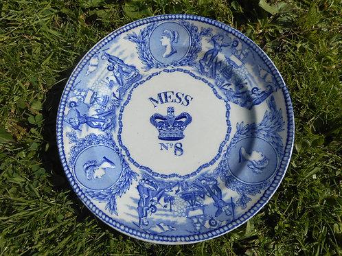 Queen Victoria Royal Navy mess plate. No.8