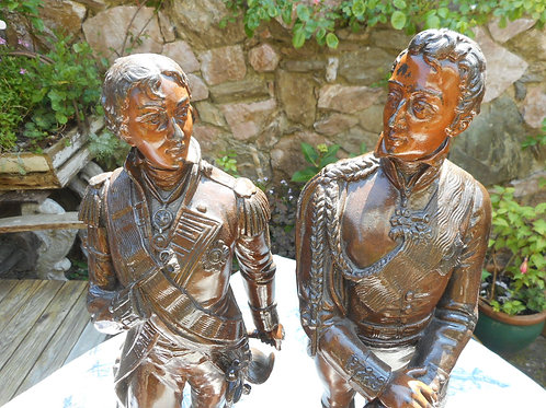 Nelson and Napolean bronze figures