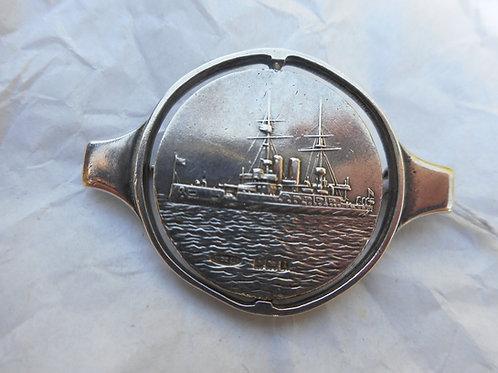Silver HMS Venerable brooch