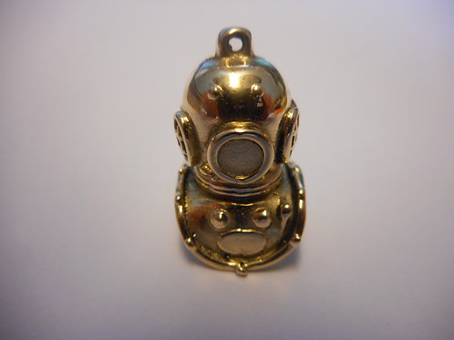 Gold diving helmet pendant