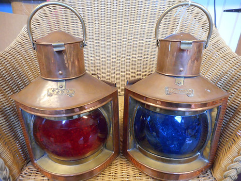 Pair Port & Starboard oil lights