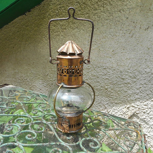 Copper Globe cabin oil lamp