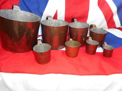 Set of eight R.N Rum measures