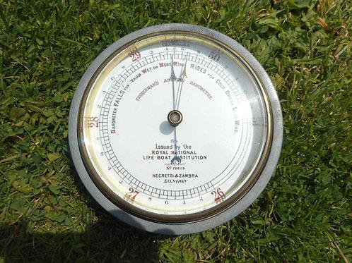 20th Century R.N.L.I aneroid barometer