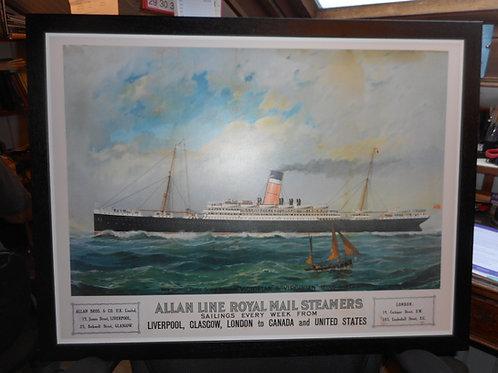 'Victorian' - Allan Line. Framed print