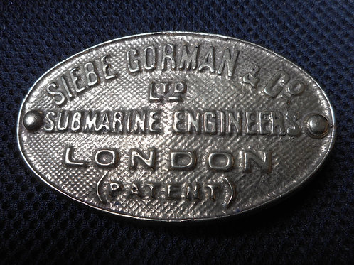 Siebe Gorman helmet makers plate belt buckle