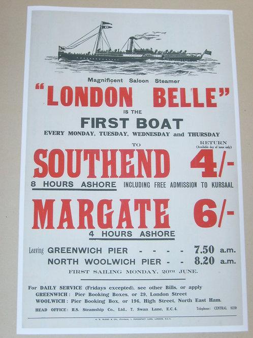 'London Belle' advert - a colour print