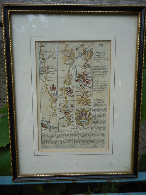 Historic framed map of Dartmouth
