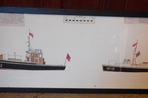 Original Trinity House pilot boat scale drawing No.12 & No.18