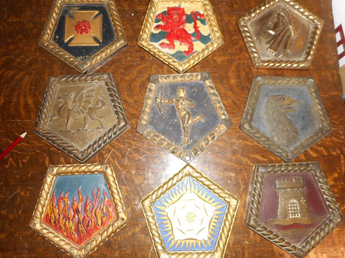 Selection of H.M.S Cruiser ships badges