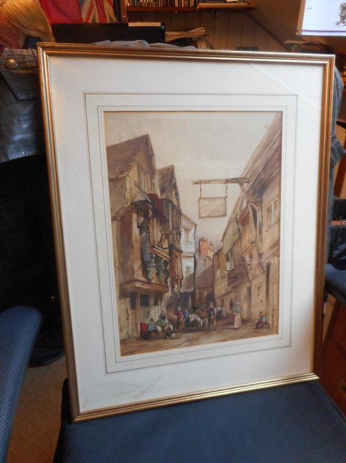 Watercolour of 'Dartmouth Inn'