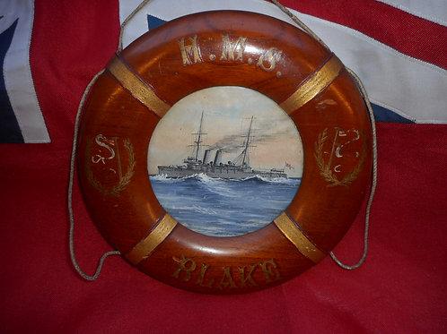 HMS Blake painted lifering