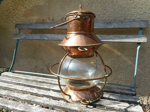 Copper globe light