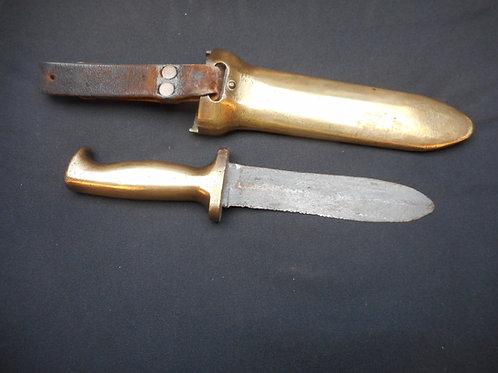 Heinke brass diving knife