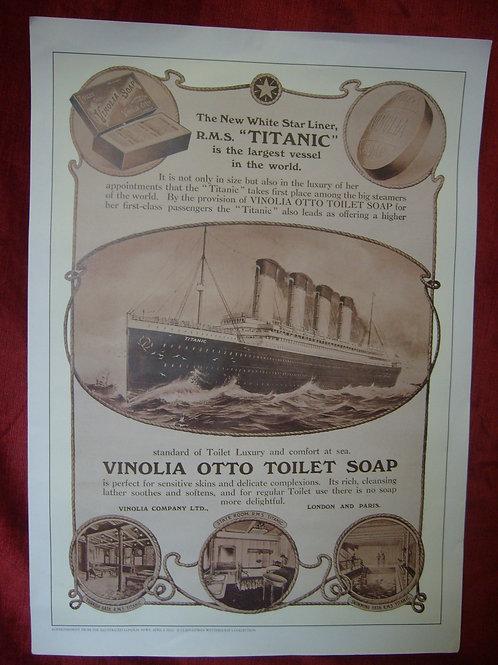 Titanic Vinolia soap print