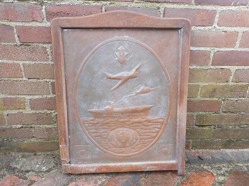Ark Royal commemorative copper panel