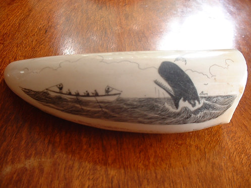 No. 18 - Signed whaling tooth