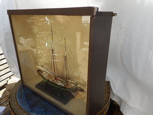 Scratch built boat model