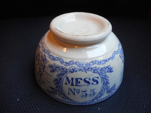 RN Mess bowl No.55 Queen Victoria
