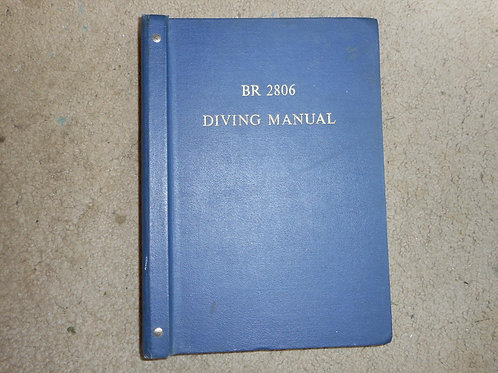 Vintage diving manual
