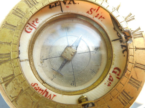 No.306 - 18th Century ivory sundial compass
