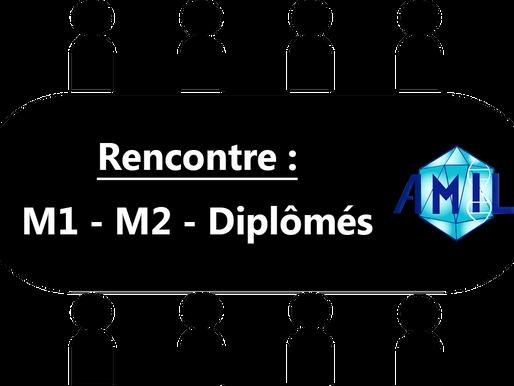 Rencontre M1-M2-Diplômés édition confinée :)