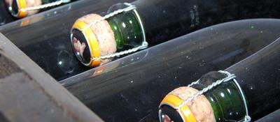 bottles in the cellar - Champagne Veuve Clicquot-Ponsardin, Reims