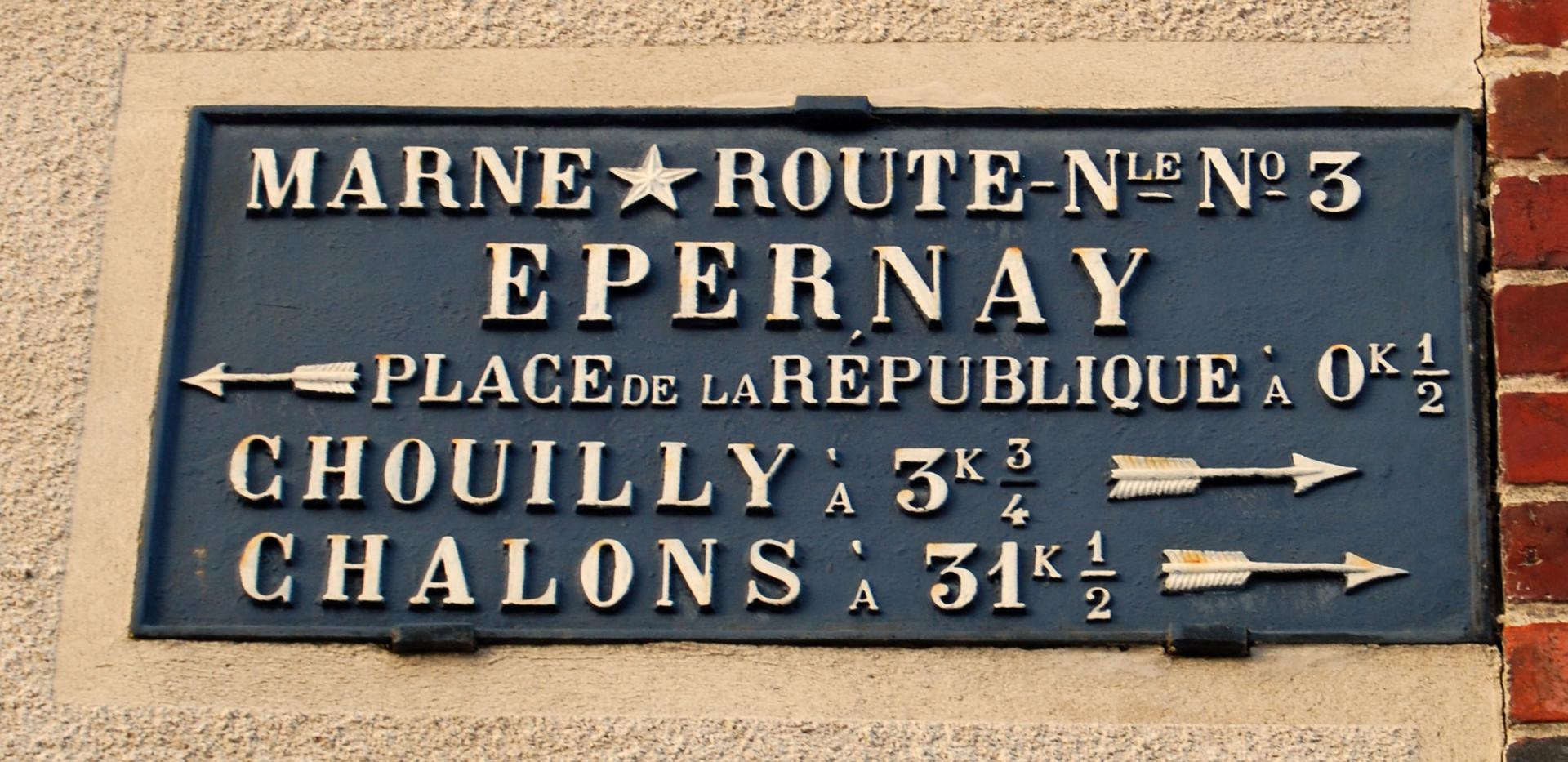 road sign Avenue de Champagne