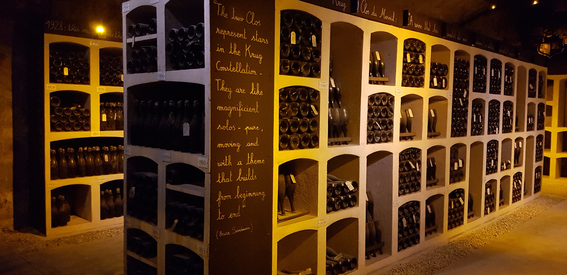 in the cellars Champagne Krug