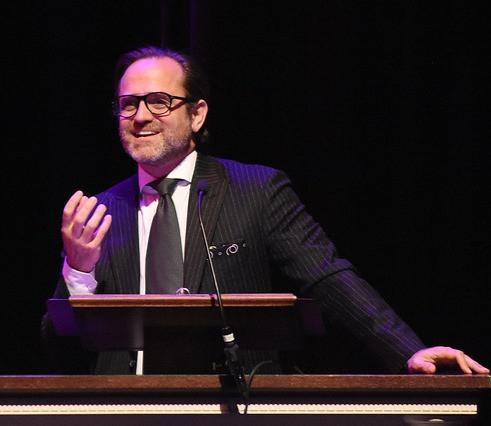 Eduardo Braniff delivers speech