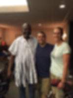 Sowah Mensah and Michael and Mary Checco