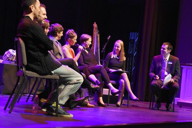 Question and Answer session between performers and audience.