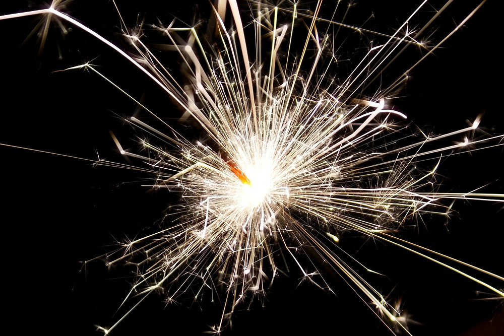 lights from a sparkler