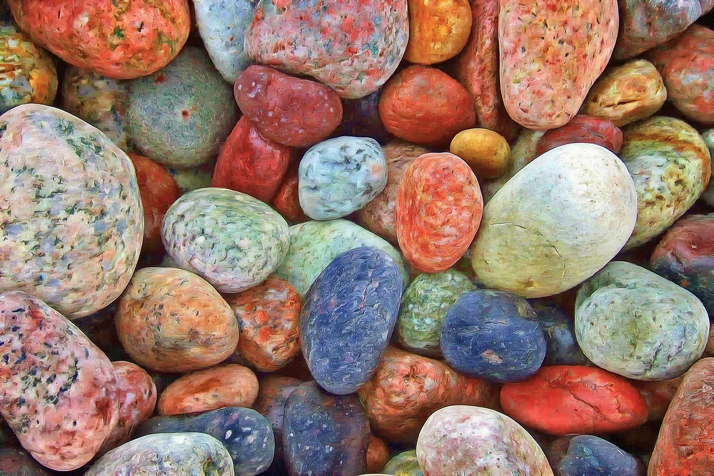 small rocks of multiple colors