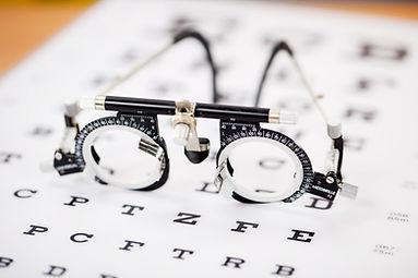 Teste do olho Óculos