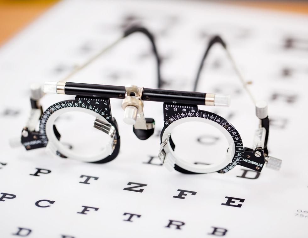 Oční test brýle