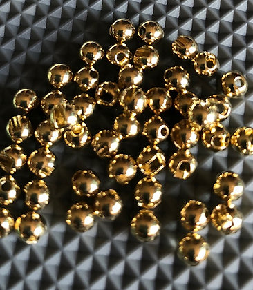 DC GOLD TUNGSTEN SLOTTED BEADS