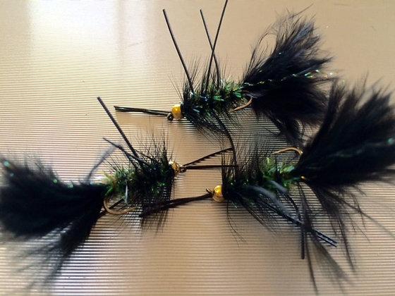 Black Crystal wooly rubber legs