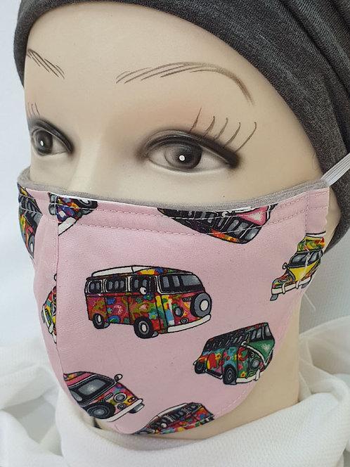 Hippy Bus Summer Face Mask