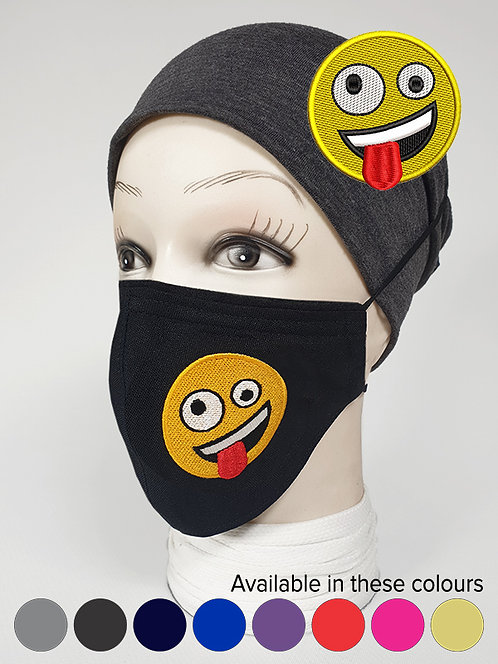 'Silly Crazy'' Emoji Mood Mask