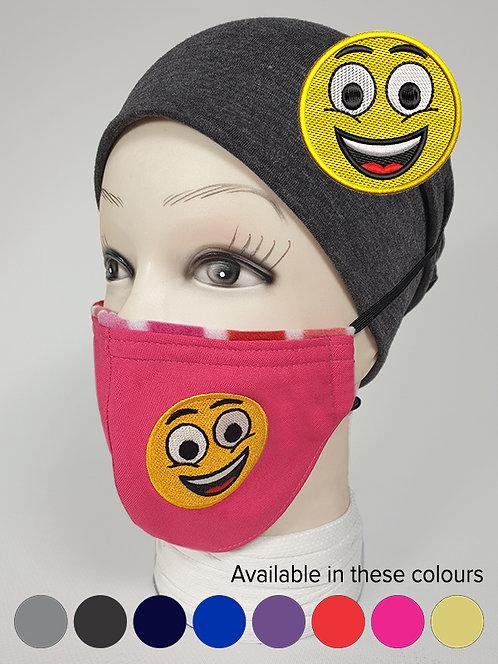 ''Happy'' Emoji Mood Mask